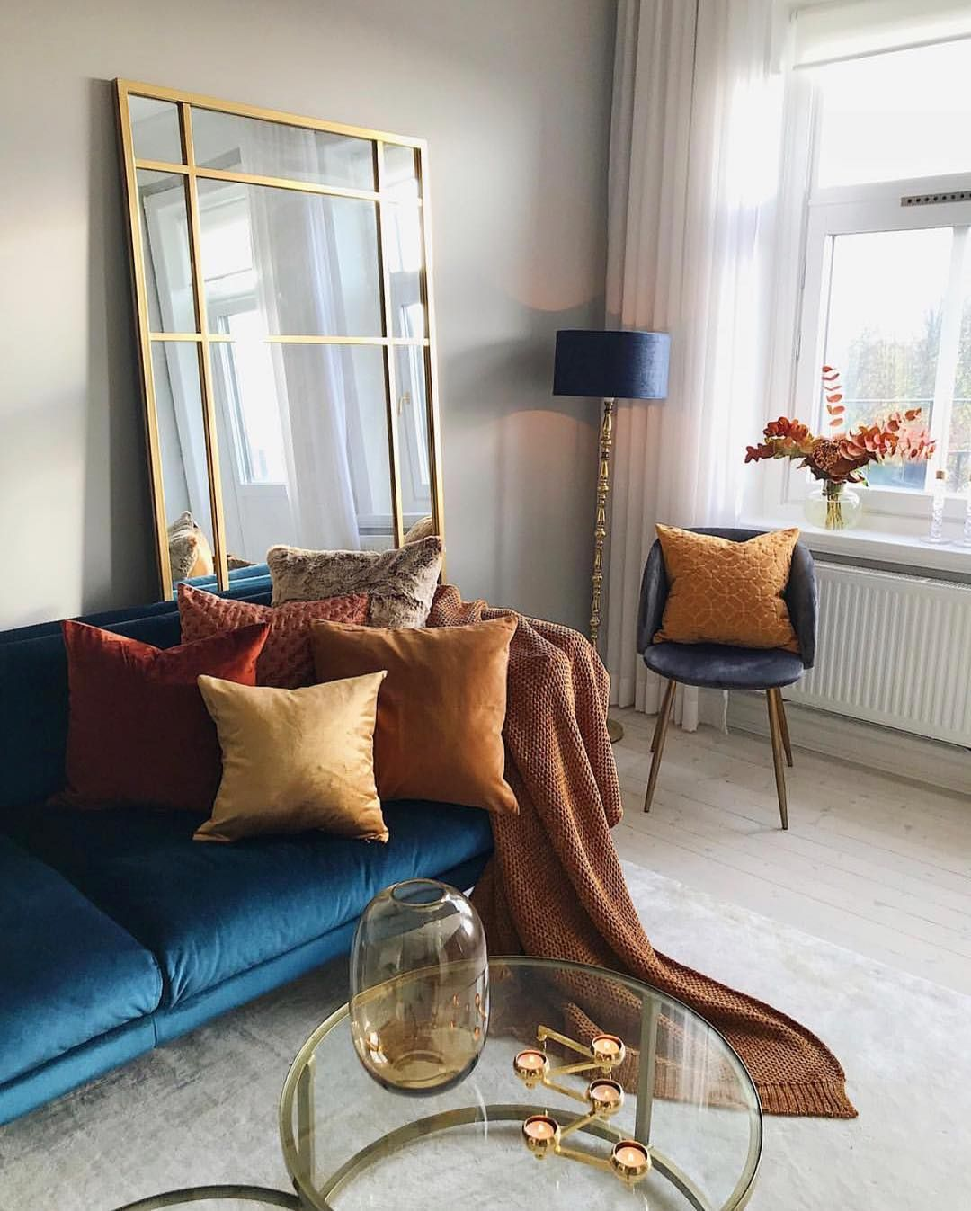 Confident Living On Instagram Beautiful Fall Interior Just Look At The Spirit Iron Wall Mirror By Nordal Confiden Interior Autumn Interior Iron Wall