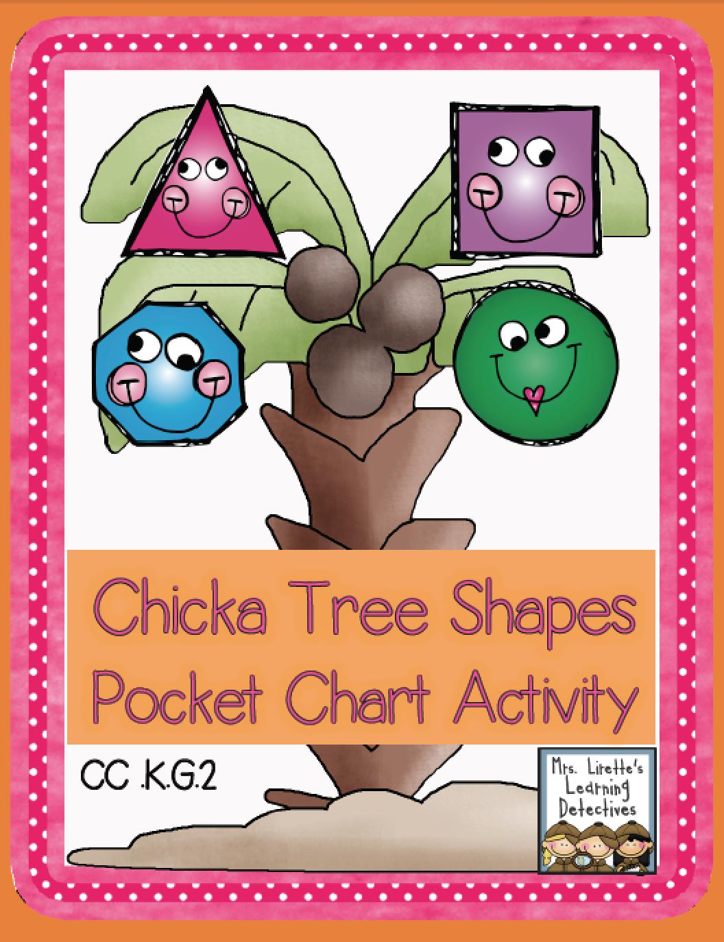 Chicka Tree Shapes Free Pocket Chart Activity