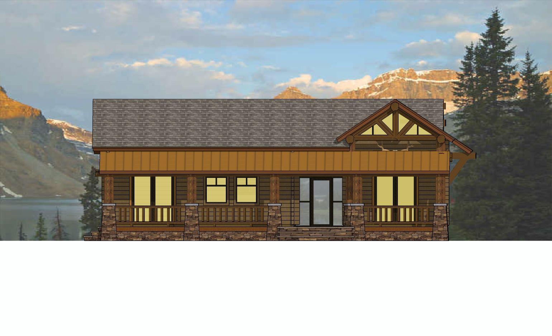 Artist Cabin Rear Elevation Small Cabin Designs Rustic Cabin Cabin Design
