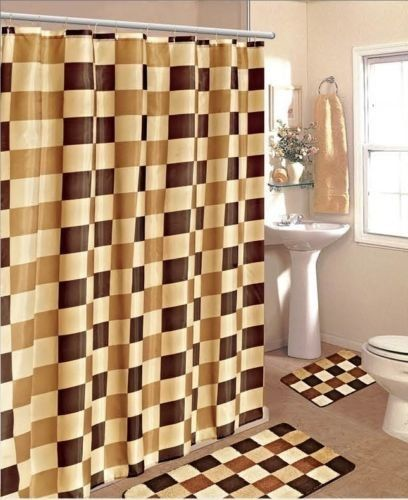 Price Tracking For Gorgeous Home 15pc Brown Beige Checkers