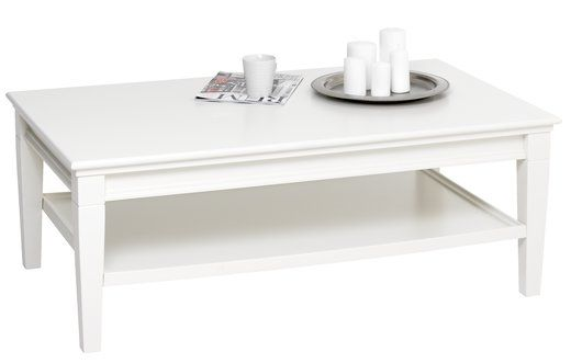 Strålende Sofabord AUNING 70x120cm m/hylde hvid | JYSK | Stue/spisestue IL-18