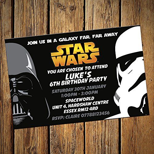 Star Wars Party Invitations Envelopes Personalised Invites Pack – Personalised Party Invites Uk