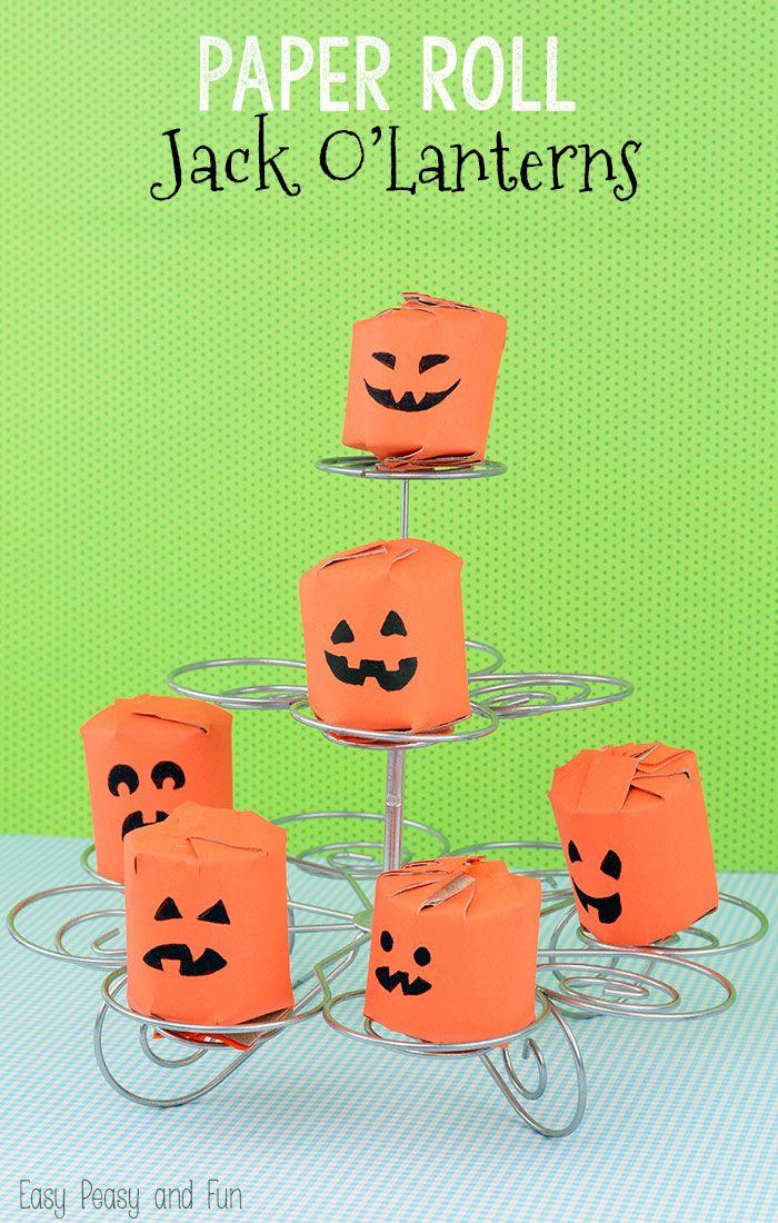 Toilet Paper Roll Pumpkins Kids Craft Stars Toilet