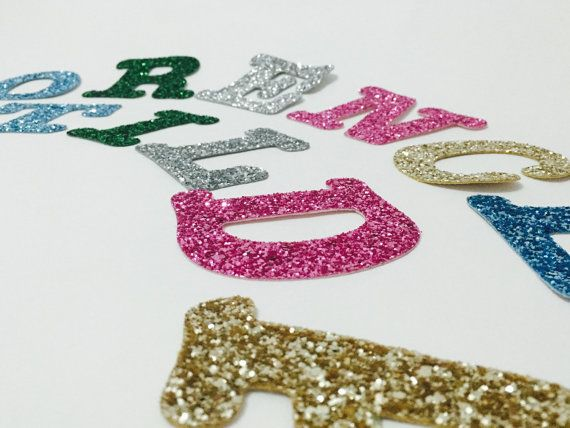 Large Fabric Letters Large Glitter Alphabet by WhatAStitchUp