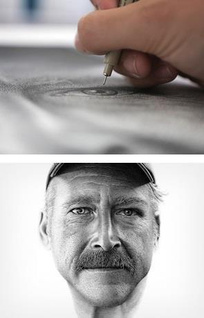 a portrait of benjaman kyle a man with dissociative amnesia drawn
