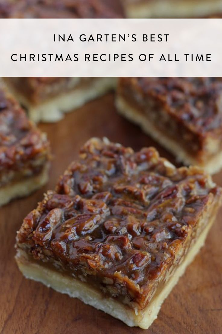 Ina Garten Bars Ina Garten S Best Christmas Recipes Of All Time Recipes Ina
