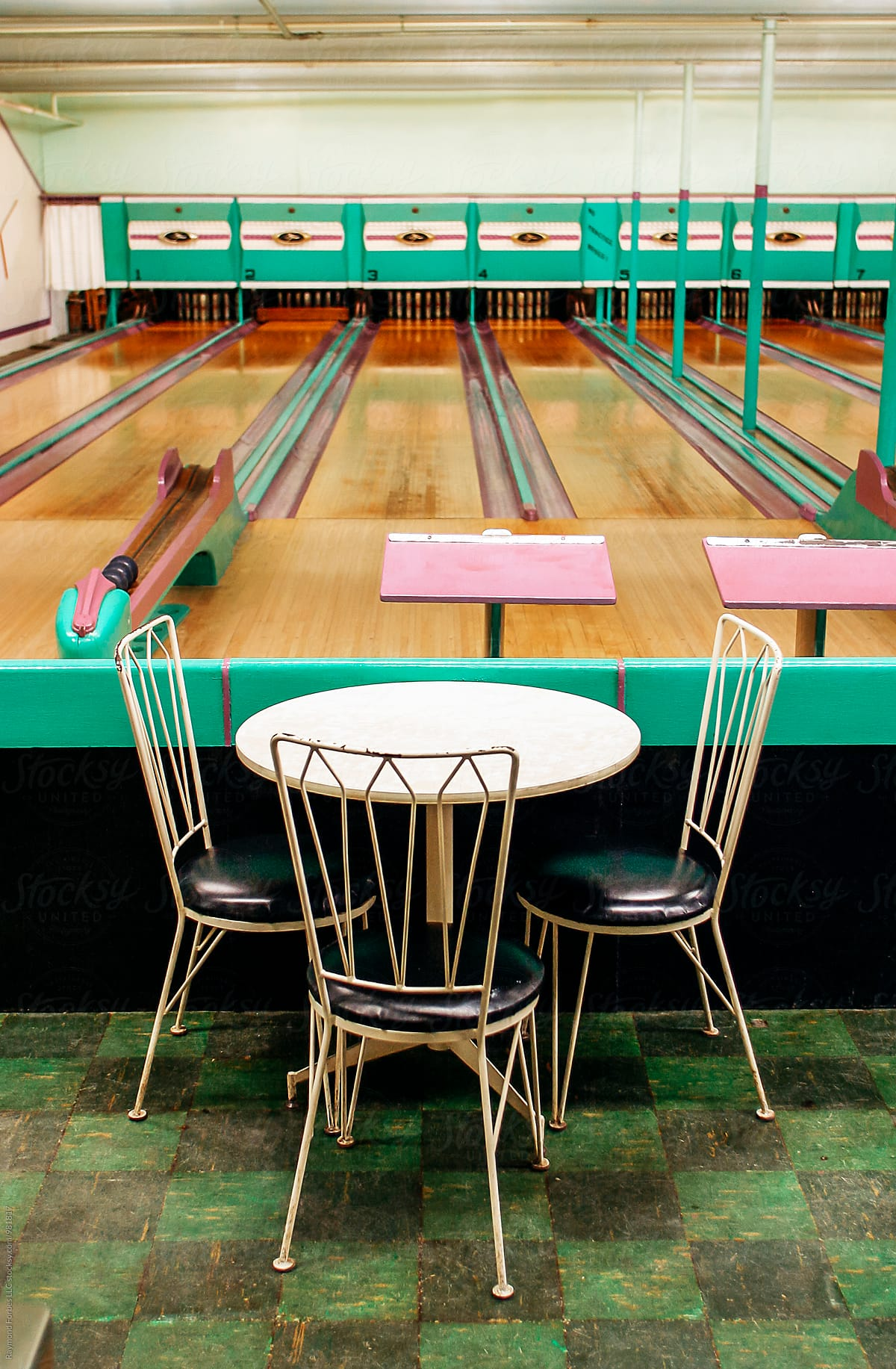 Vintage Candlepin Bowling Alley Stocksy United By Raymond Forbes Photography Stockphoto Stockph Candlepin Bowling Mid Century Wall Art Los Angeles Wall Art