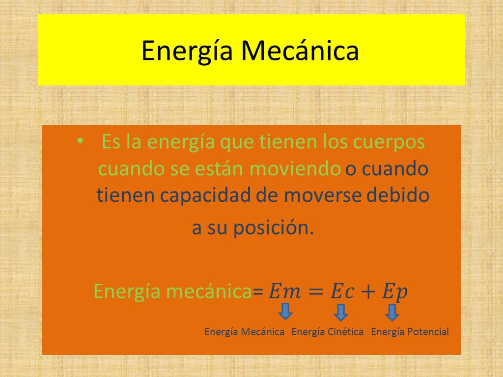 energ u00eda mec u00e1nica  cin u00e9tica  y potencial