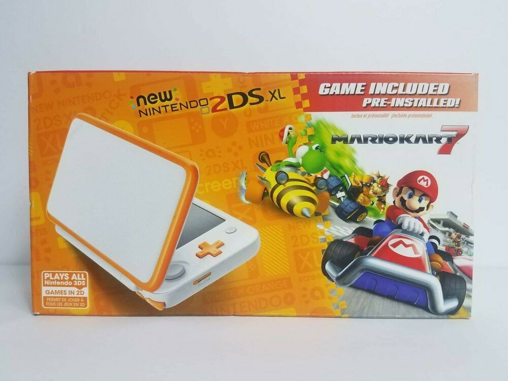 Nintendo 2ds Xl Mario Kart 7 Console Bundle Orange White Nintendoswitch Nintendo Switch Nintendo 2ds Nintendo Mario Kart