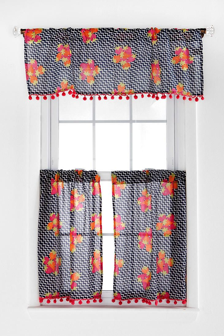 Adorable for a kitchen!!! Plum & Bow Geo-Strawberry Cafe Curtain ...