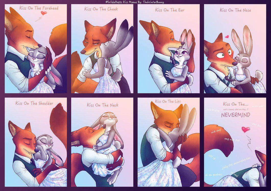 Wildehopps Kiss Meme By Thewinterbunny On Deviantart Zootopia Nick And Judy Zootopia Comic