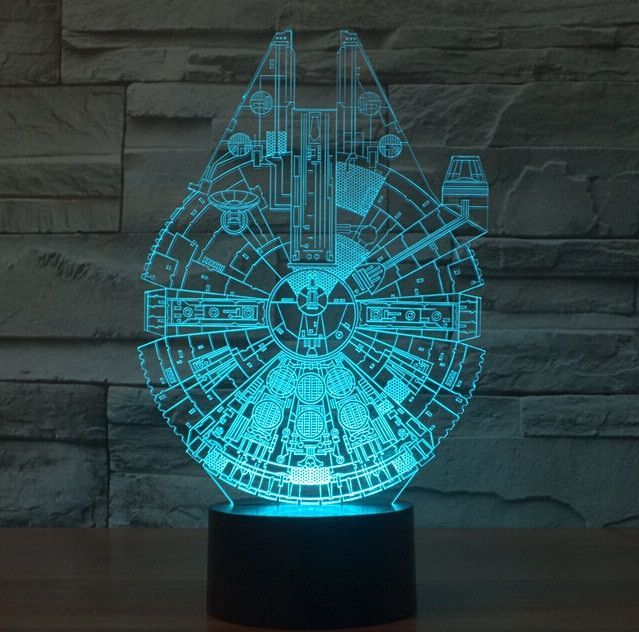 Star Wars Bb8 Droid 3d Bulbing Light Toys New 7 Color Changing Visual Illusion Led Decor Lamp Darth Vad Star Wars Night Light Star Wars Lamp 3d Led Night Light
