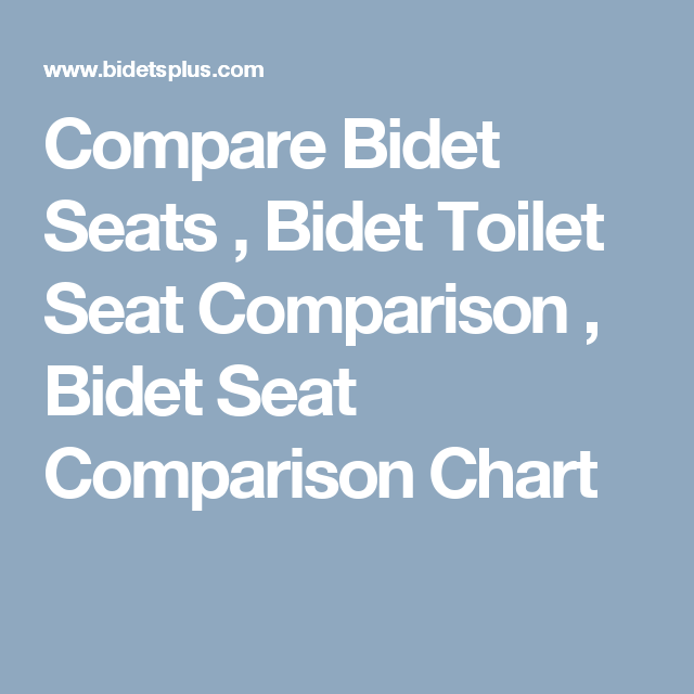 Compare Bidet Seats , Bidet Toilet Seat Comparison , Bidet Seat Comparison Chart