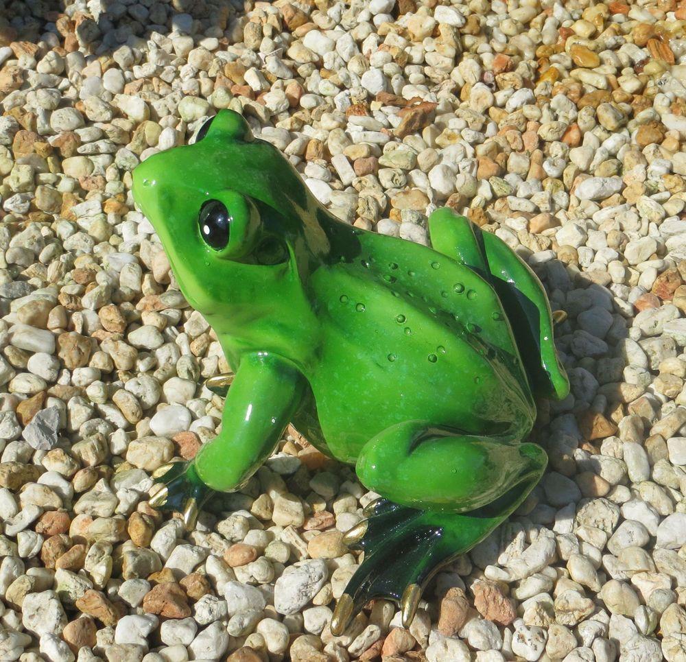 Xl Frosch Unke Krote Gross Grun Gold Garten Teich Pool Deko Figur Rossi Unke Frosch Krote Teich