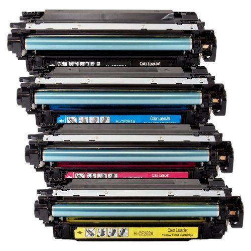 Tta Remanufactured Toner Cartridges Set For Hp Color Laserjet Cm3530 Mfp Cm3530fs Cp3525dn Cp3525n Cp3525x Toner Cartridge Printer Ink Cartridges Toner