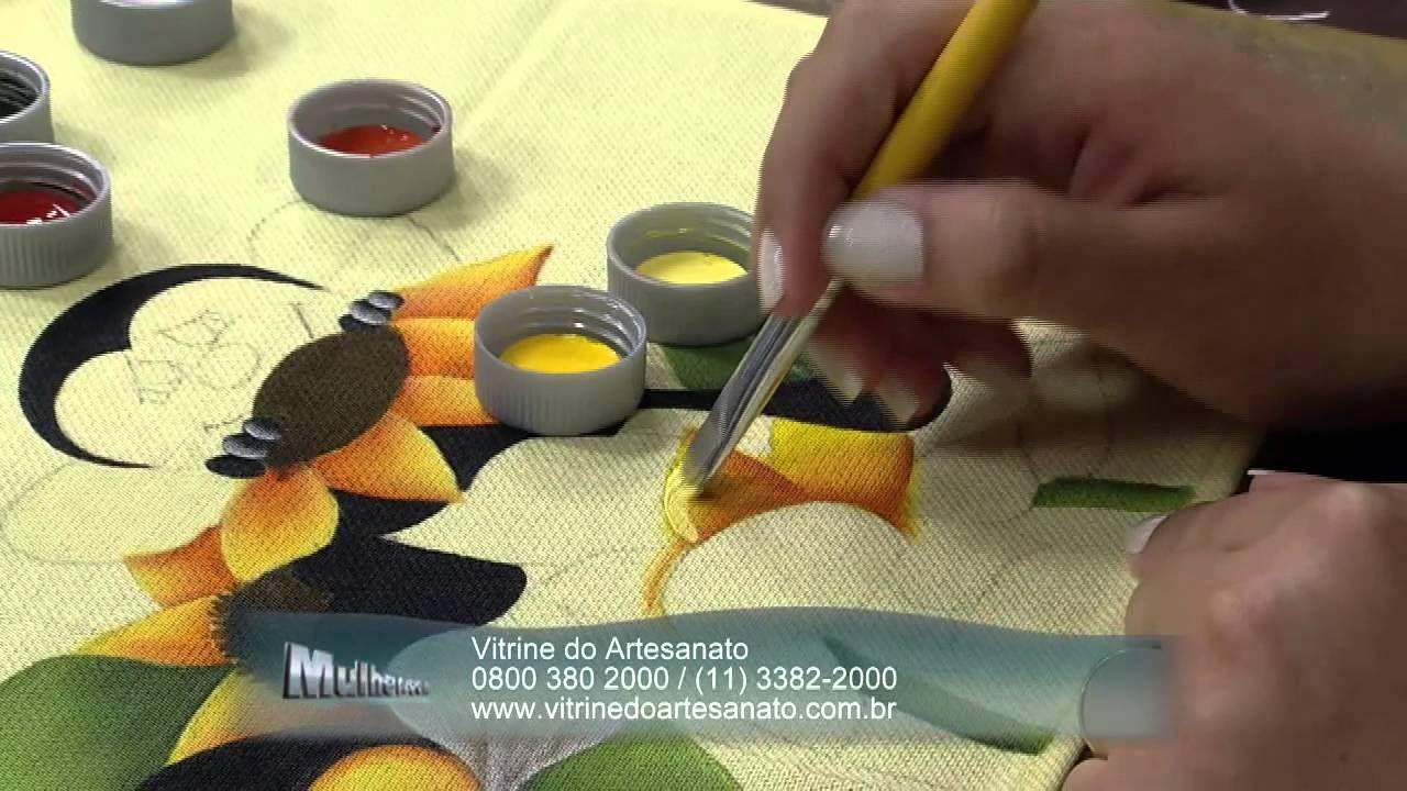 Mulher.com 20/03/2014 Eliana Rolim - Pano de copa abelhinhas Parte 1/2