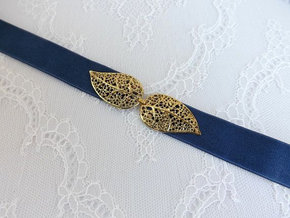 Hey, I found this really awesome Etsy listing at https://www.etsy.com/listing/287987117/navy-blue-elastic-waist-belt-gold-leaf
