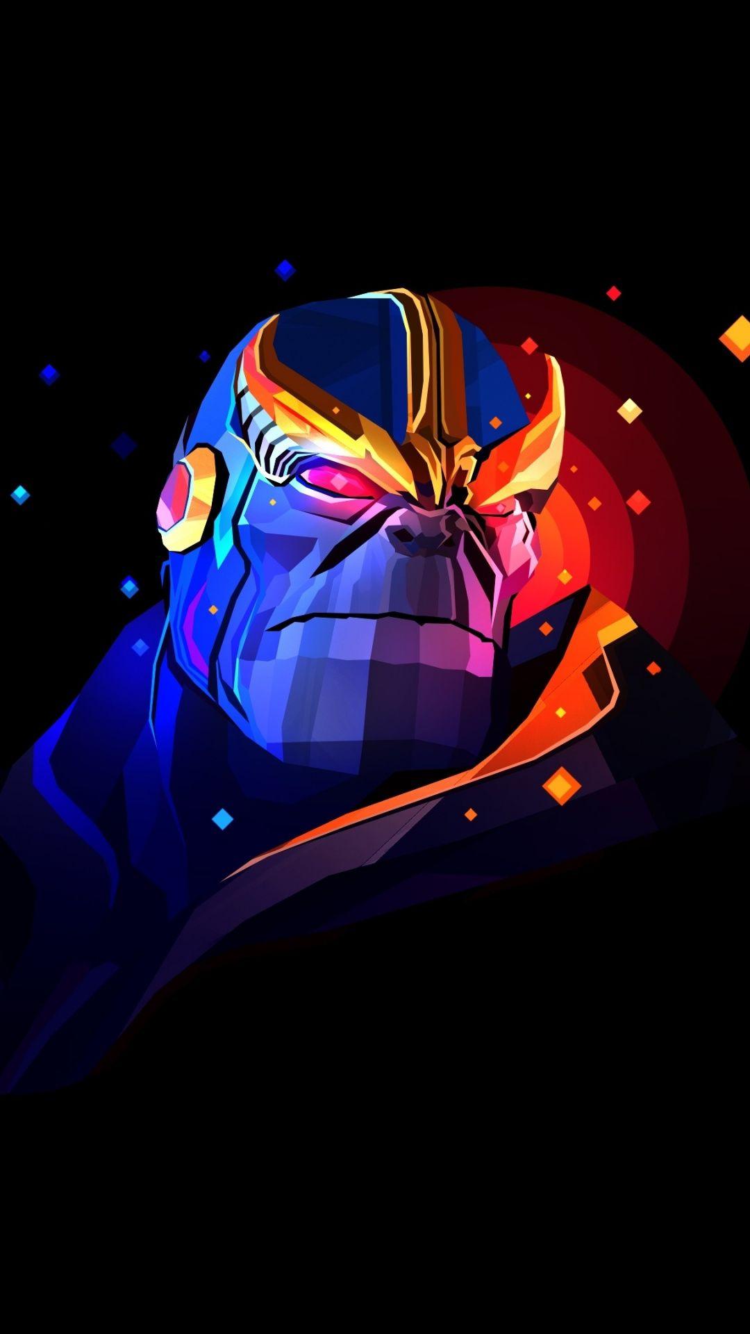 Avengers Infinity War Thanos Minimal Art Wallpaper Marvel