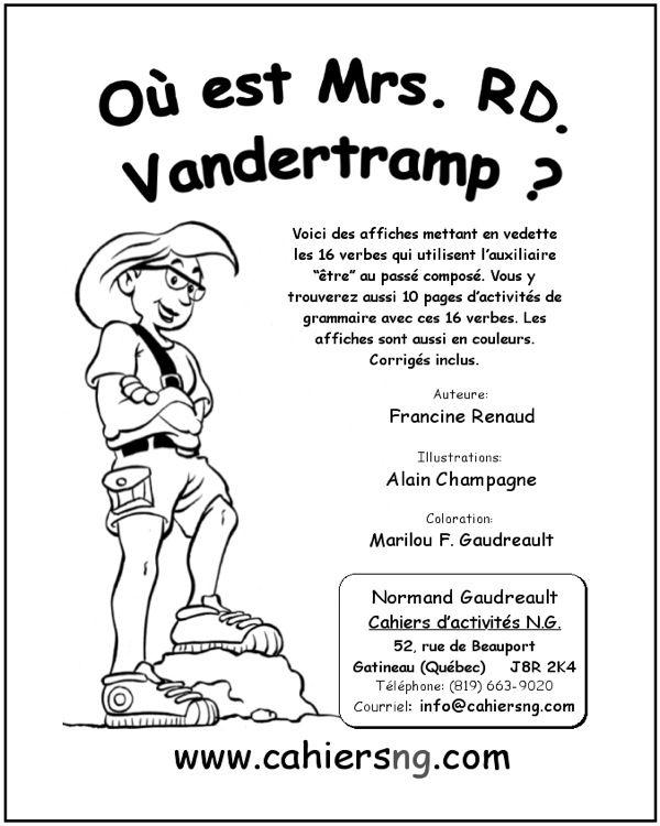 Ou Est Mrs Rd Vandertramp Pdf Fiches Reproductibles Pour Enseignant E S Teaching Memes