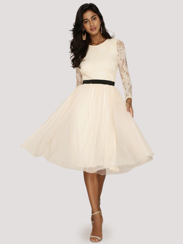 de5b39a1215f KOOVS Lace Bodice Tulle Dress | Women Fashion | Fashion, Dresses ...