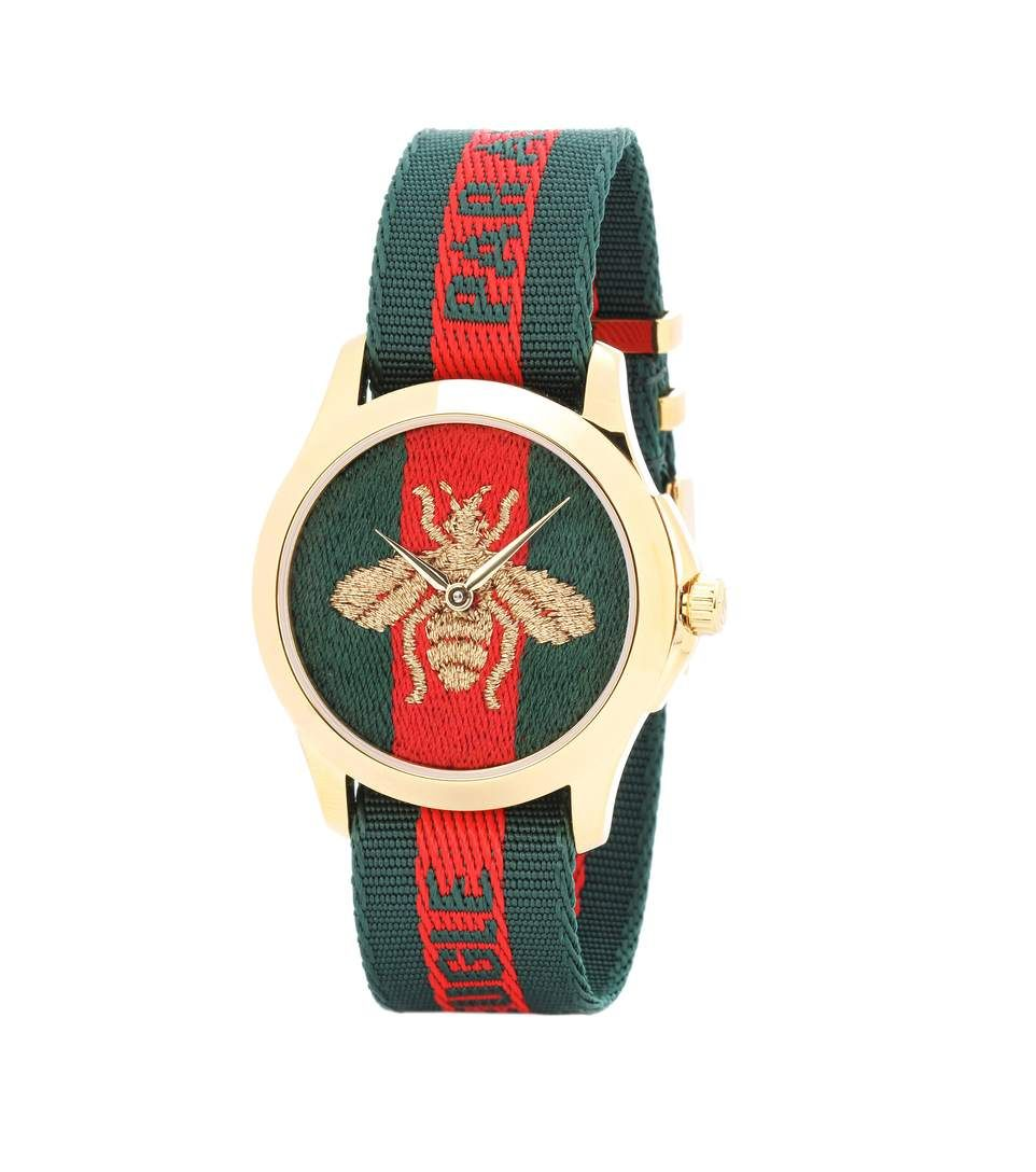 2962c58bfe7 GUCCI Le Marché Des Merveilles 38Mm Striped Fabric Watch.  gucci  watches