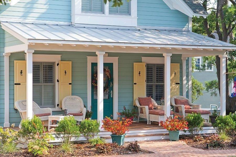 10 Secrets of Curb Appeal | Beach house colors, Beach ... |Beach Cottage Exterior