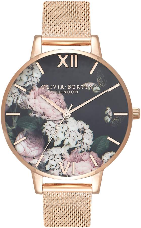 2365dc9b691b Olivia Burton Signature Floral Mesh Strap Watch