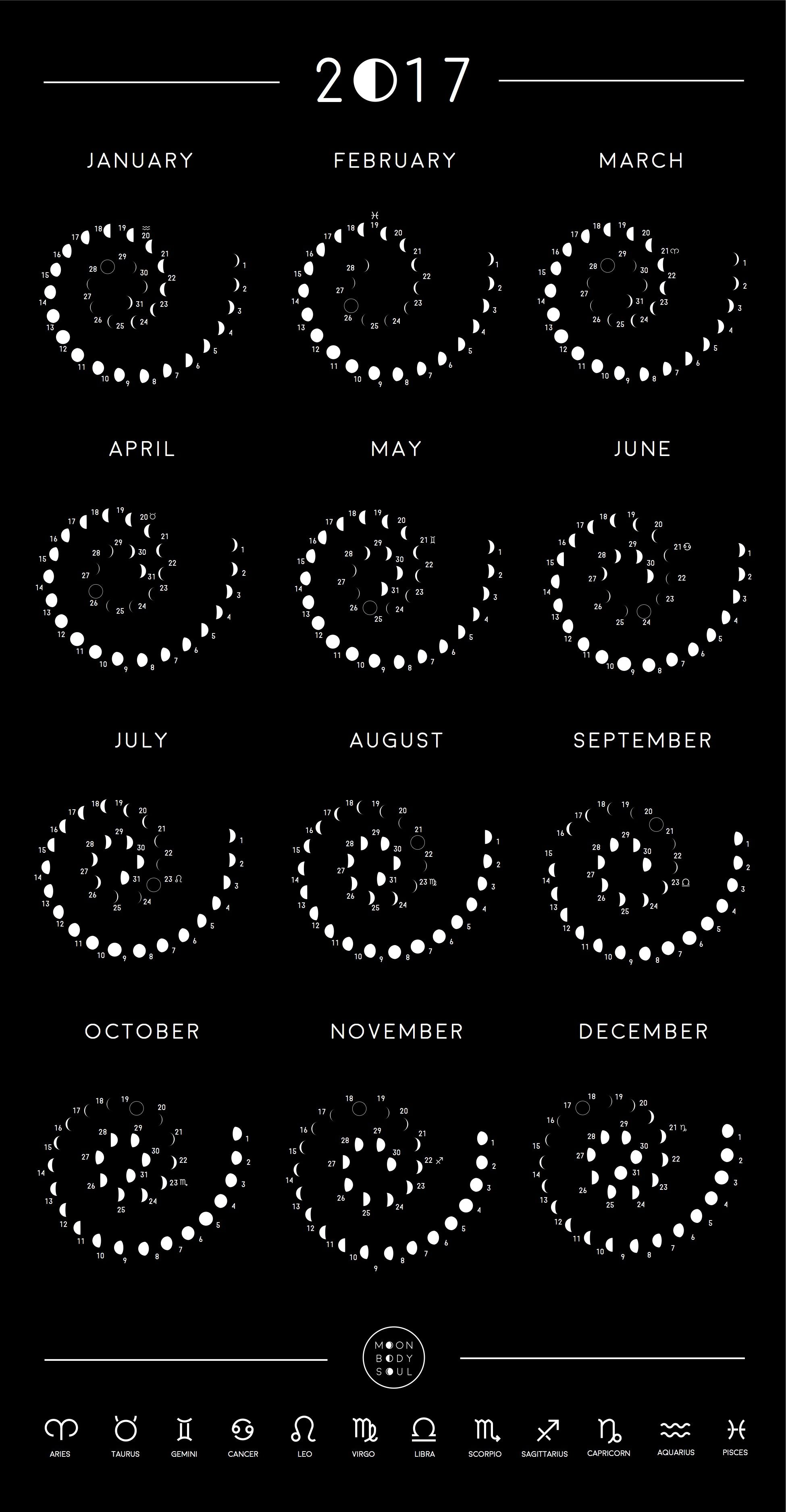 Search moon calendar