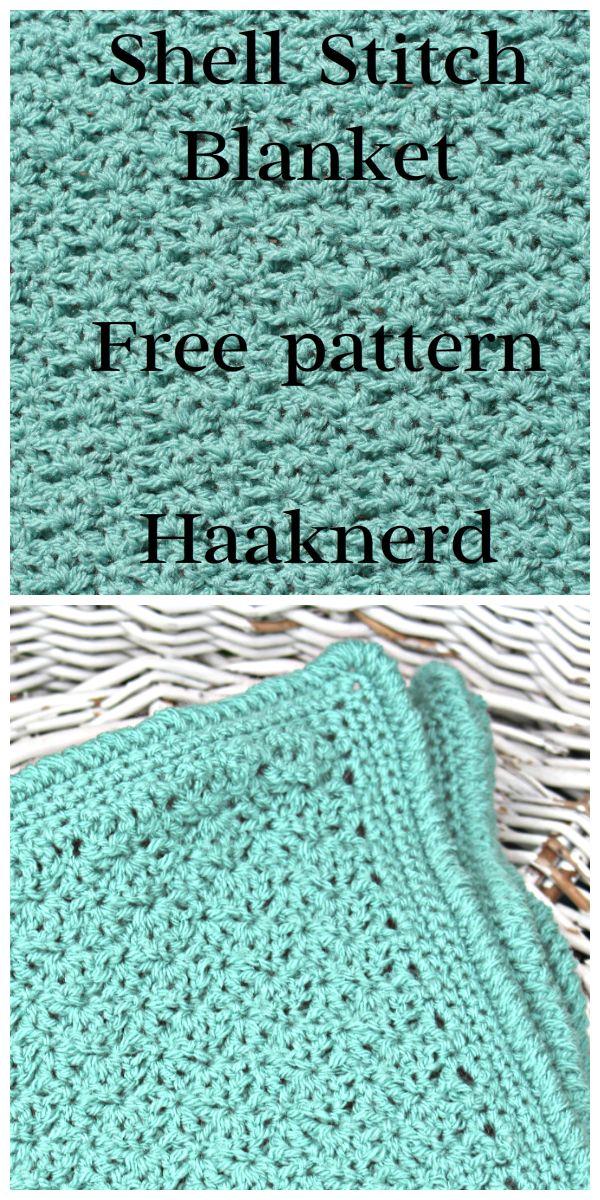 Shell Stitch Blanket | Crochet | Pinterest | Canastilla, Manta y Bebe