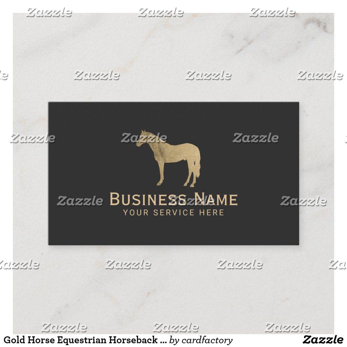 Goldpferdereiterreiten Pferdeartig Visitenkarte Zazzle De Horse Equestrian Horseback Riding Gold Horse