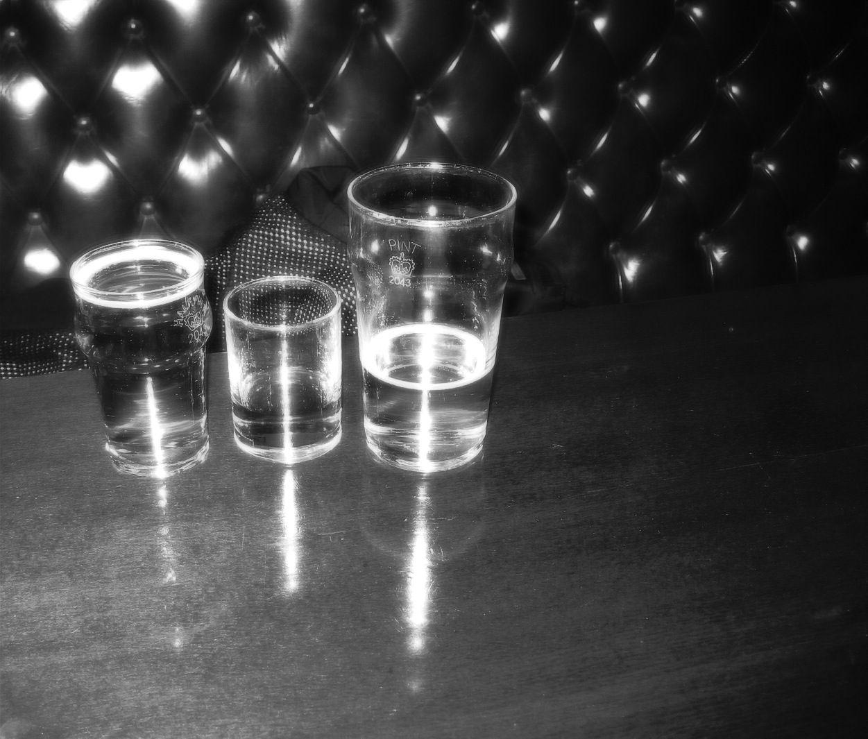 lunch: half pint, whiskey, pint