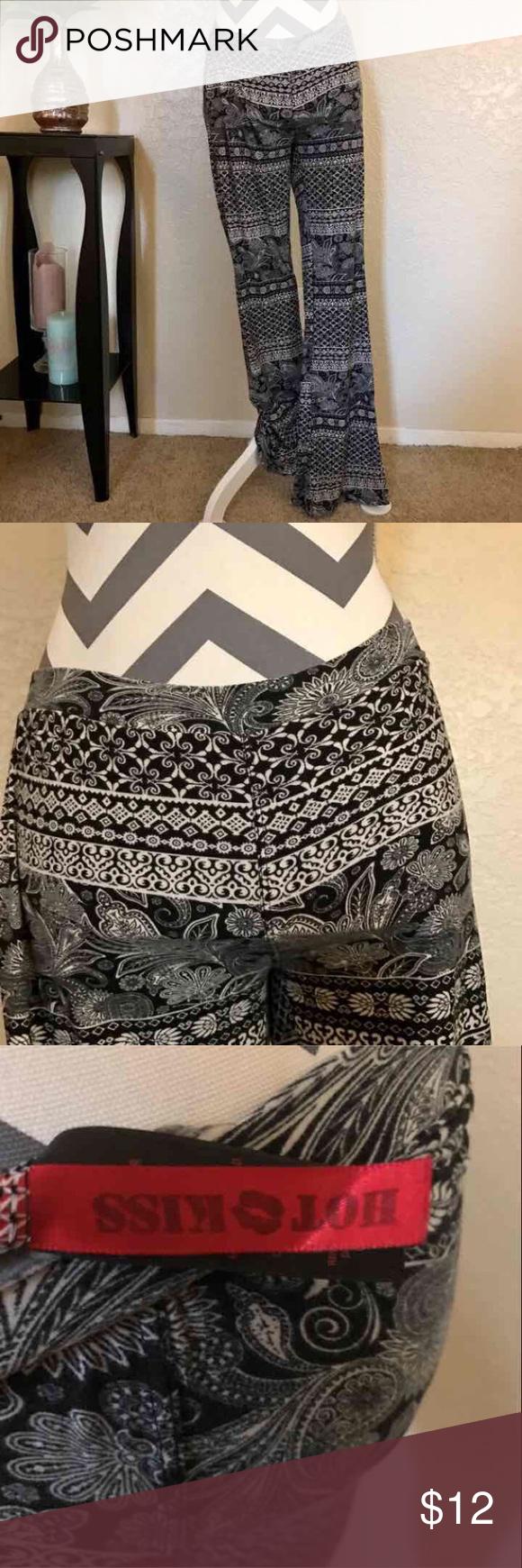 Hot 💋 Kiss palazzo pants S Super comfy Hot Kiss 💋 palazzo pants. Nice flare 😉 💕 great Pre-loved condition 💕pet/smoke free home Hot Kiss Pants Wide Leg