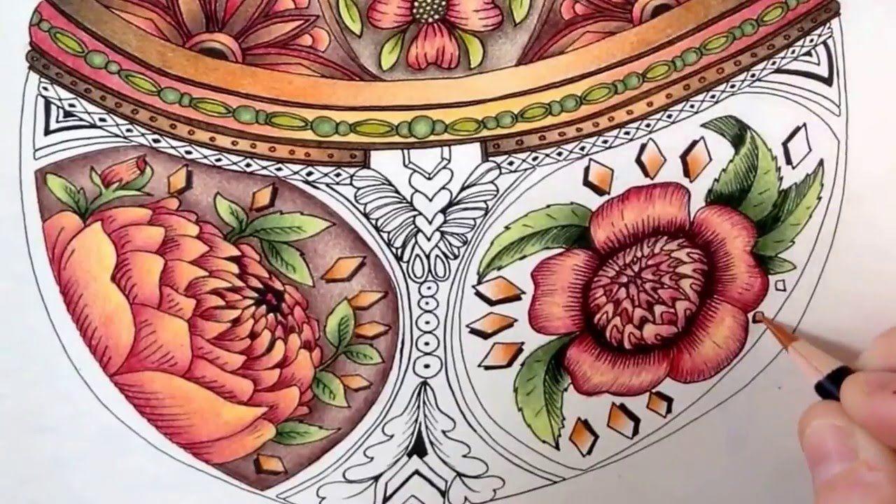 Youtube coloring book - Part 3 Colored By Julie Bouve Spectrum Noir Pencils Escape To Wonderland Coloring Book