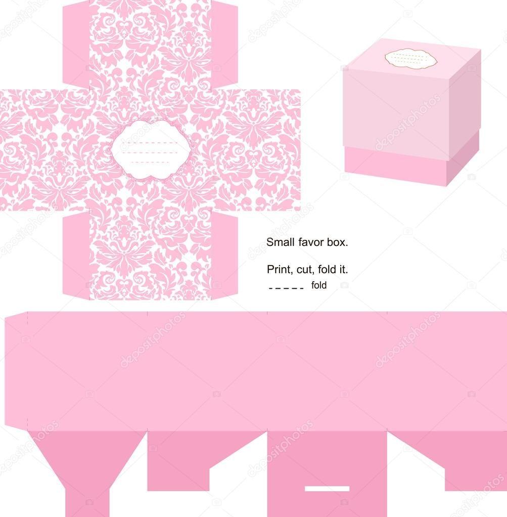 Descargar - Plantilla caja de regalo — Ilustración de stock #7352264 ...