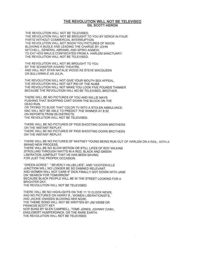 Revolution Lyrics