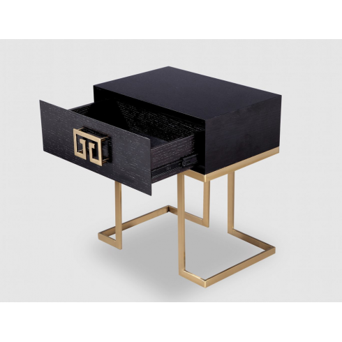 Best Black And Brass Bedside Table Art Deco Style Art Deco 400 x 300