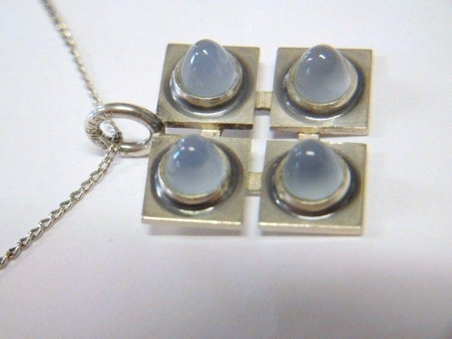 Kupittaan Kulta, Finland: Vintage 60's 813 Silver Pendant with Moonstone Stones #KupittaanKulta #Pendant