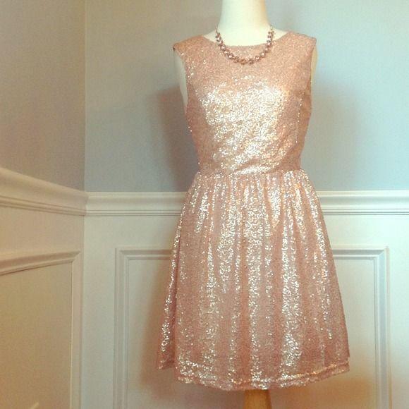 3266356e Forever 21 Dresses & Skirts - Light pink sparkled sequin dress ...
