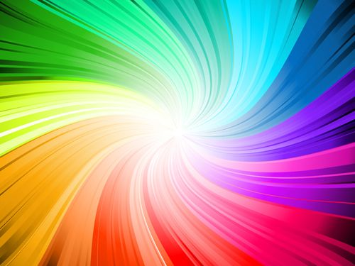Rainbow Swirls Vector Background 04 For Free Download Rainbow