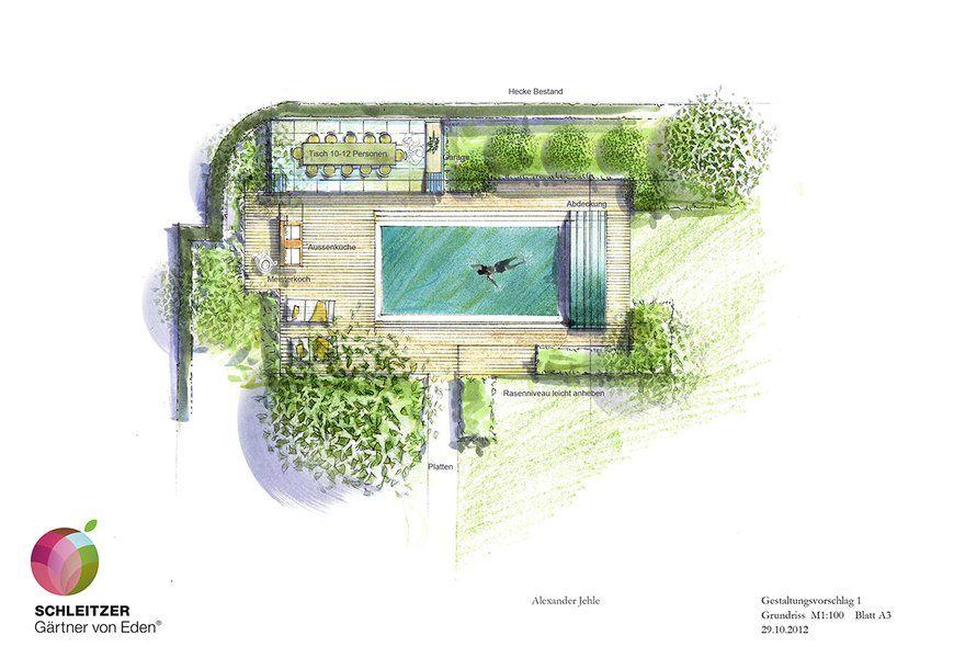Sketch Garden Landschaftsplane Landschaftsdesign Garten Planen