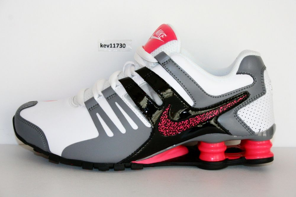 buy online 492e3 6ddb3 Authentic Nike Shox Current White Hyper Pink GreyBlack   639657 104 Womens  sz  Nike  RunningCrossTraining