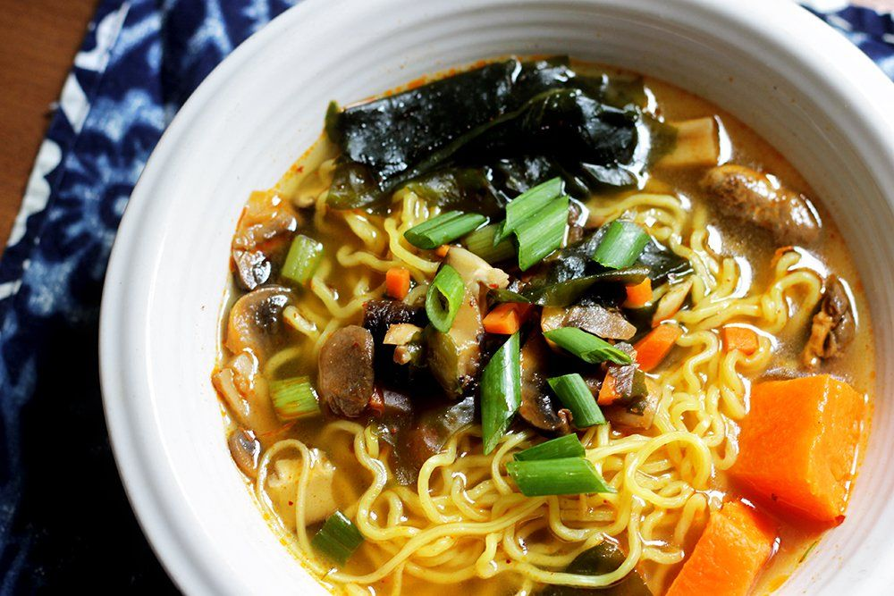 Vegan soup recipes korean ramen noodle soup vegan soup ramen vegan dishes ah the taste of childhood spicy umami rich and delectable korean ramen made forumfinder Images