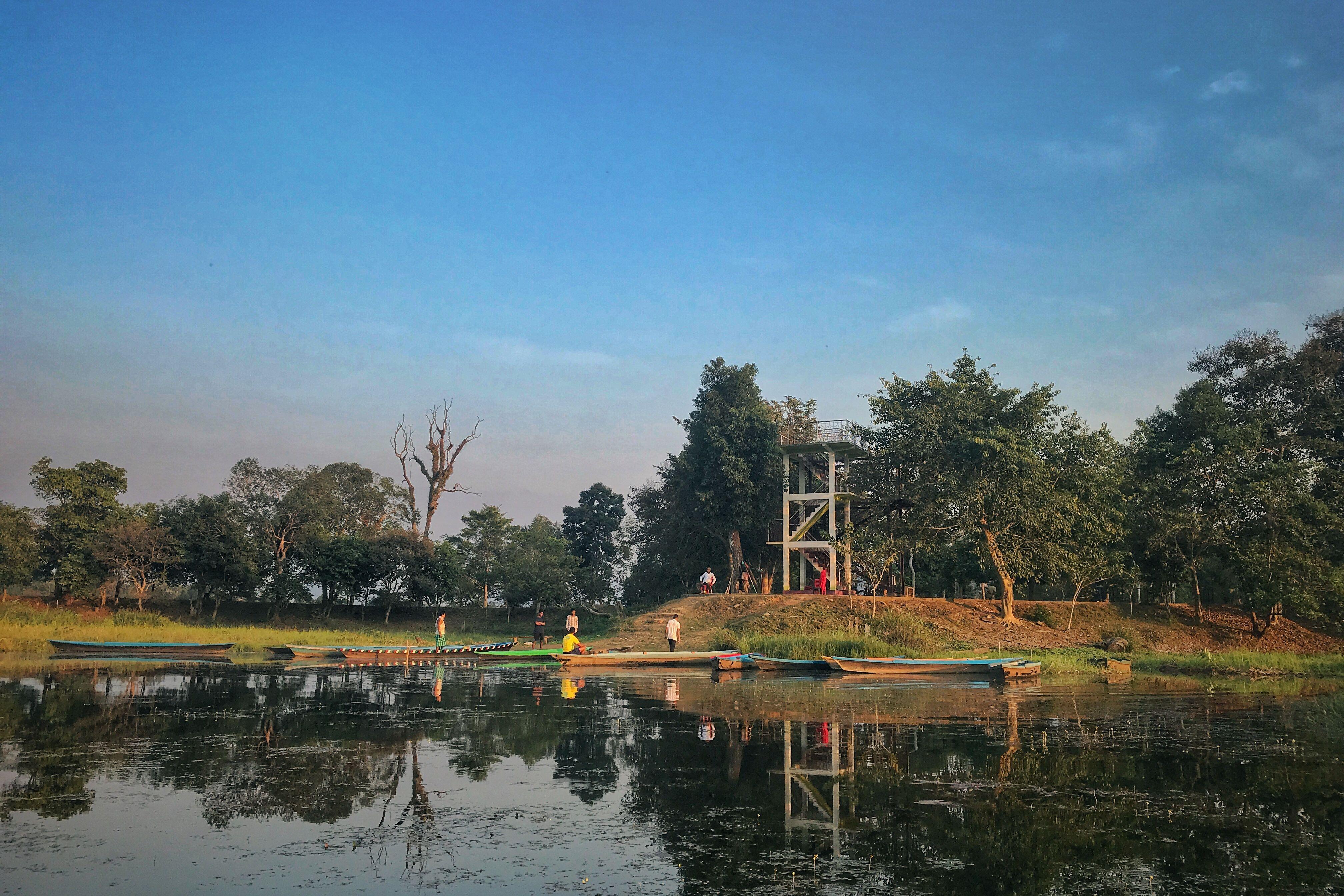 Chandubi Lake Assam Lake Canal Structures