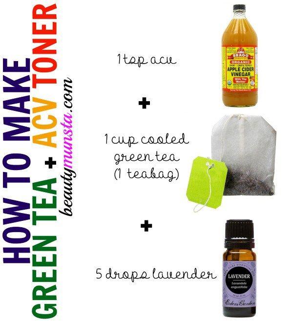 Green Tea Apple Cider Vinegar Toner | Apple cider vinegar ...