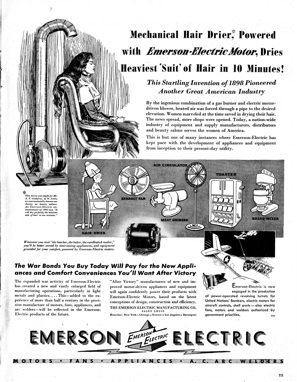 1943 Emerson Hair Dryer Mechanical10 Minutes Original 13