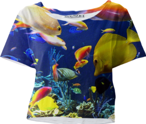 Aquarium Sleeved Crop Top - Available Here: http://printallover.me/products/0000000p-aquarium-6