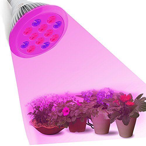 cool Lámpara de invernadero, para jardines de interior y plantas hidropónicas, bombillas de espectro completo, 4 azules y 8 rojas, muy eficientes, tipo UMsku Mas info: http://comprargangas.com/producto/lampara-de-invernadero-para-jardines-de-interior-y-plantas-hidroponicas-bombillas-de-espectro-completo-4-azules-y-8-rojas-muy-eficientes-tipo-umsku/