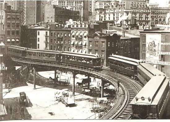 The elevated train that Ahmad used to get around the city, but hated because it forced him to be captivated like everyone else.
