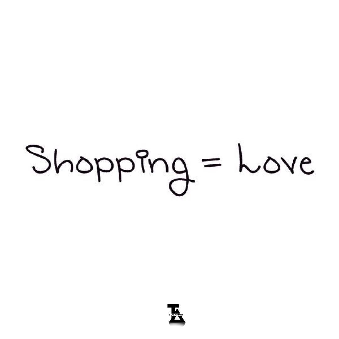 "Toi Amor on Instagram: ""Shopping = Love  Do you agree? Shop with us link in the bio""  #shoppinglove #shoppingaddict #shoppingtherapy #shoppinglover"