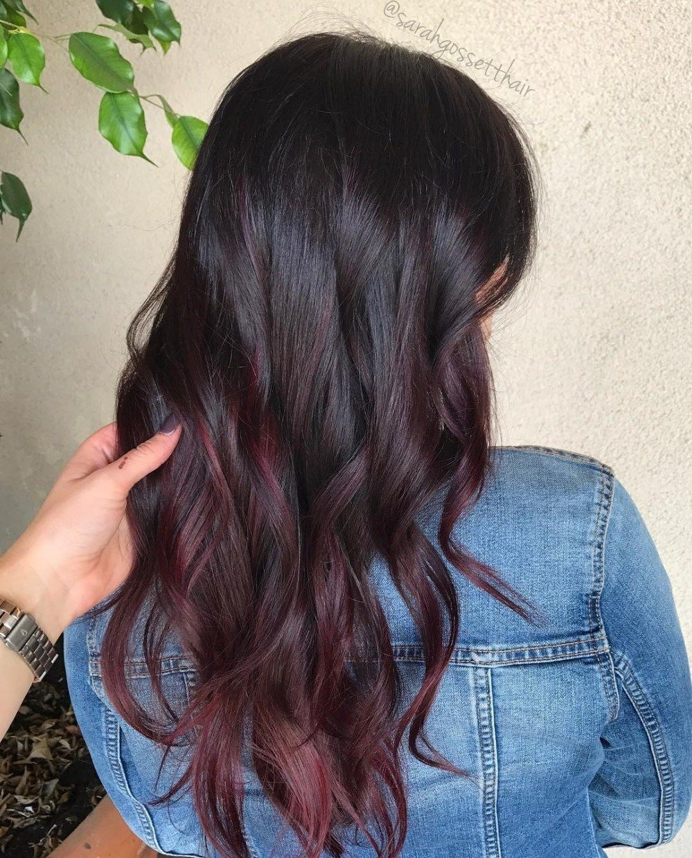 45 Shades Of Burgundy Hair Dark Burgundy Maroon Burgundy With Red Purple And Brown Highlights In 2020 Burgundy Balayage Hair Color Burgundy Burgundy Hair